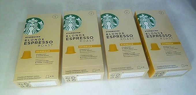 Starbucks Capsules Blonde Espresso Roast 4 Pack Total 40