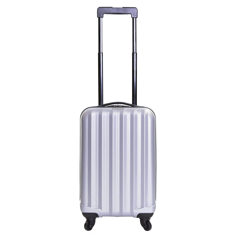 Monaco Black Karabar Hard Cabin Hand Luggage Bag 54 cm 2.2 kg 31 litres 4 wheels