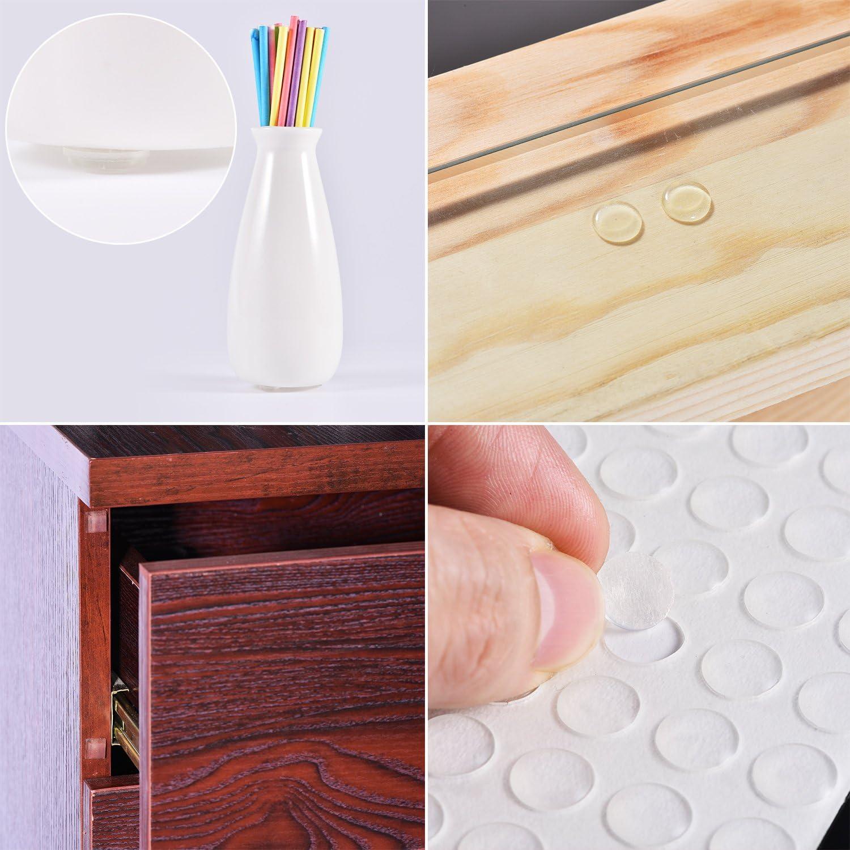 almohadilla redonda el/ástica para amortiguador de puerta 214 almohadillas adhesivas de goma para parachoques de silicona almohadilla para muebles. protector de pies