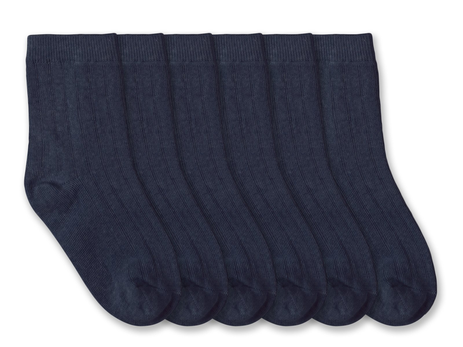 Jefferies Socks Boys Rib Crew Socks 6 Pair Pack (XS - USA Shoe 6-11 - Age 2-4 Years, Navy) by Jefferies Socks (Image #1)