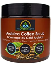 Arabica Coffee Scrub, Natural & Organic Body Scrub for Cellulite Treatment, Skin & Face Exfoliating Cream (250g/8.8oz) - Licensed by Health Canada