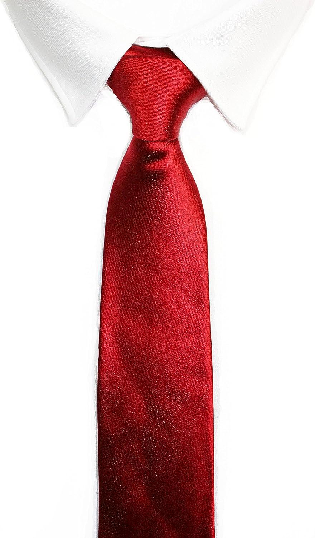 MARTINNO Corbata SEDA roja: Amazon.es: Ropa y accesorios