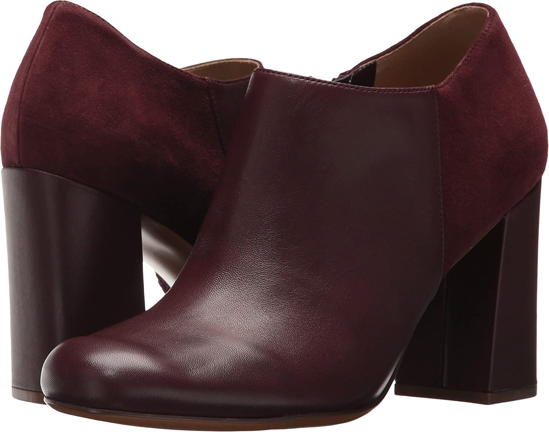 Naturalizer Women's Rainy Ankle Bootie B06X935ZW5 9.5 C/D US|Bordo Leather/Suede