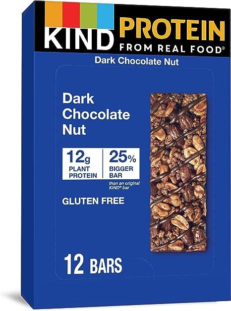Kind Bar - Barra de proteínas sin gluten Caja Doble chocolate oscuro - 12 Barras