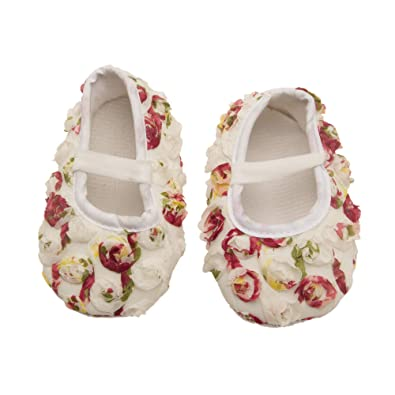 682e27fe31c9 NeedyBee Floral Pattern Formal Flats for Newborn Baby Girls (0-3 ...