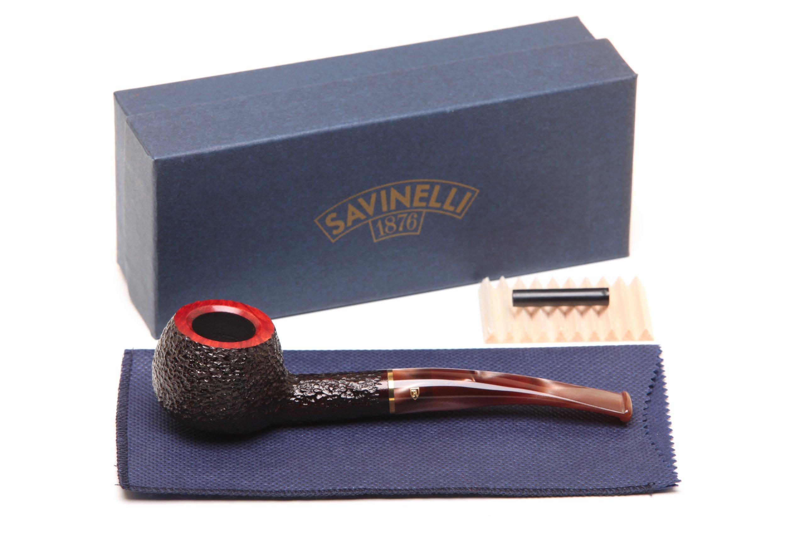 Savinelli Roma Rustic 315 KS Lucite Stem Tobacco Pipe