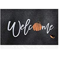 Black Outdoor Mat Front Door Indoor Welcome Doormat,Anti-Slip Durable Rubber Door Mat,Low-Profile Design,Ultra Absorb…