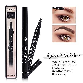 e13e39f2757 Eyebrow Tattoo Pen - Waterproof Eyebrow Pencil - Tattoo Brow Pen with a  Micro-Fork