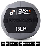 Day 1 Fitness Soft Wall Medicine Ball 15 Pounds