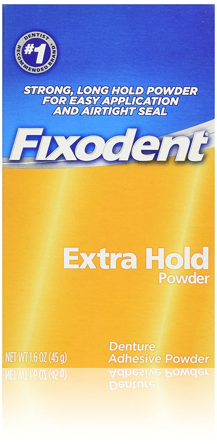 Fixodent Denture Adhesive Powder, Extra Hold - 1.6 Oz : Tooth Whitening Products : Beauty