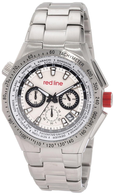 Red Line – rl-50014 – 22S – Herrenuhr – Quarz – Chronograph – ZÄhler-Geschwindigkeit – Armband Edelstahl Metallic