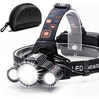 Headlamp,Cobiz Brightest High 6000 Lumen LED Work Headlight,18650 USB Rechargeable IPX4 Waterproof Flashlight with…