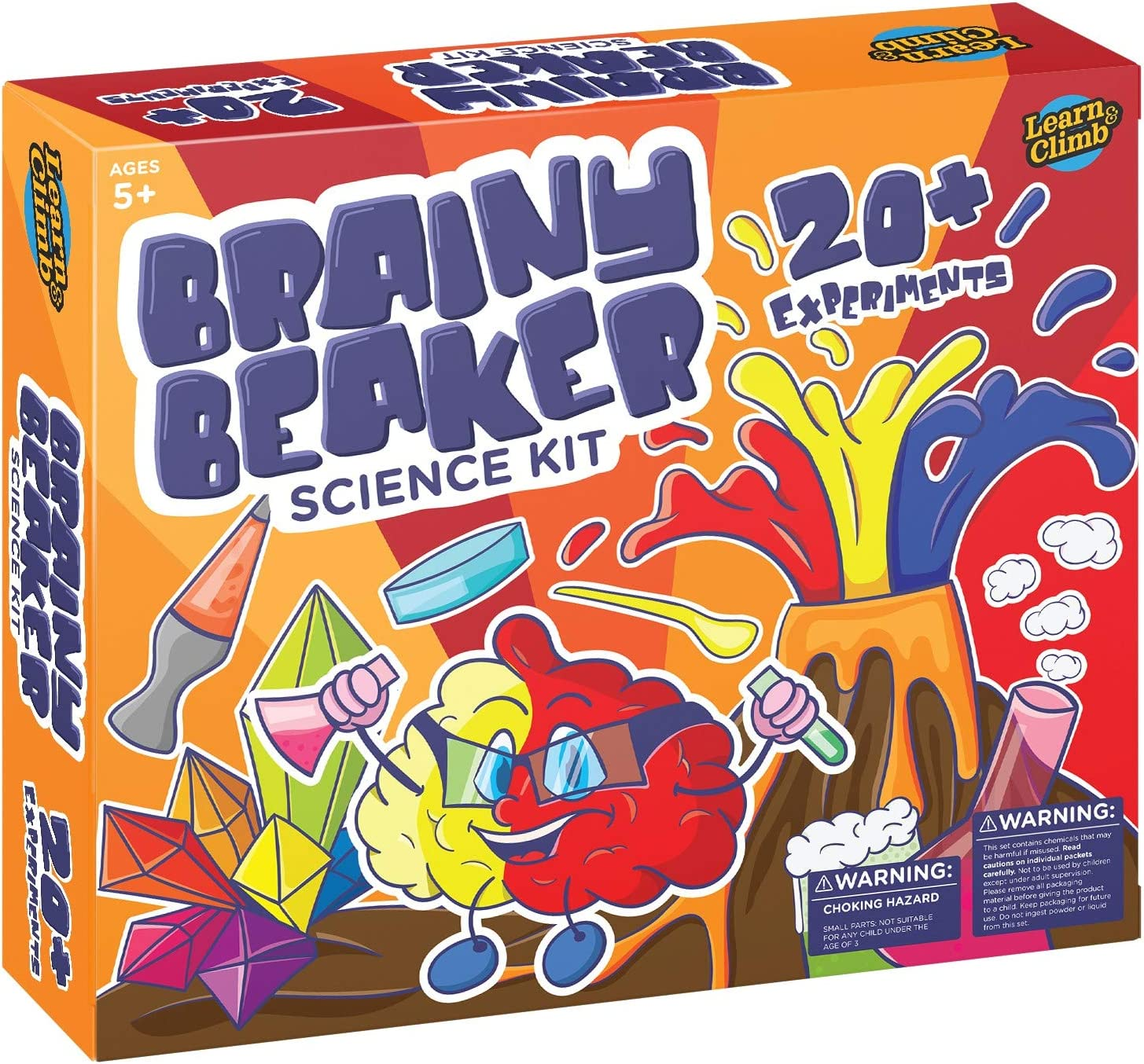 Learn & Climb Science Kit for Kids- A Variety of 21 Science Experiments and Name Tag Included!
