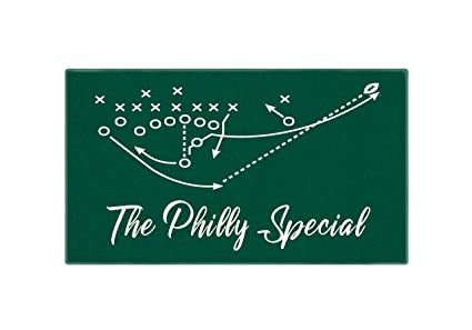 bba05942a9b Image Unavailable. Image not available for. Color: Personalized Corner  Philadelphia Eagles ...