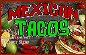Harbour Signs Decal Mexican Tacos for Food Concession Restaurant Truck Exterior Vinyl Sign (36