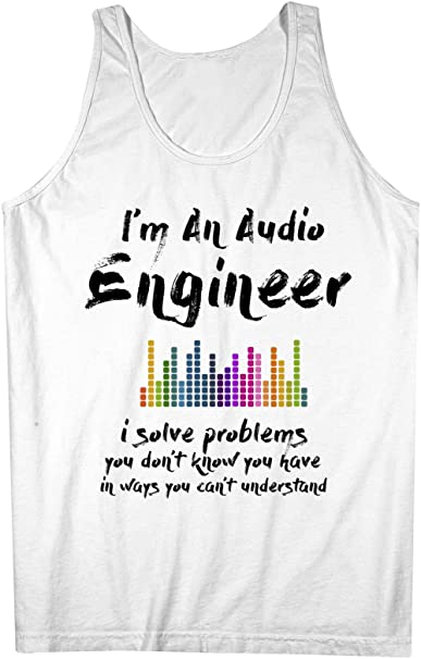 433a4013afa Image Unavailable. Image not available for. Color  Audio Engineer Funny  Musician Men s Tank Top Sleeveless Shirt ...