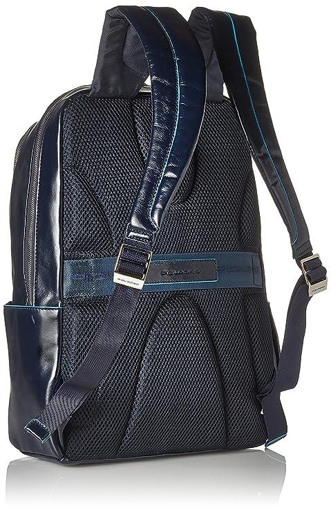 Piquadro Blue Square Mochila portaordenador con compartimentoportaiPad®/iPad®mini acolchado - CA3214B2 (Azul noche): Amazon.es: Equipaje