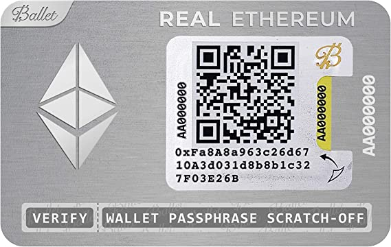 physical cryptocurrency wallet