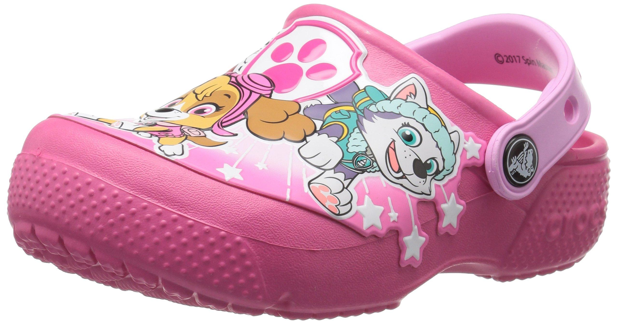 Crocs Girls' Crocsfunlab Pawpatrol Clog, Vibrant Pink, 9 M US Toddler