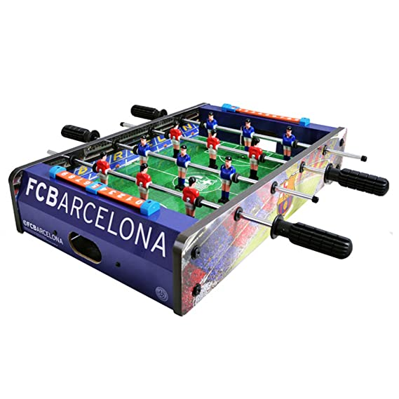 FC Barcelona Official Table Top Football Game One Size RedBlue - Barcelona fc table