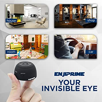 Amazon.com : Wireless Mini Nanny Wifi Camera - EyeBall 1080 Full HD Video & Night Vision Home and Office Surveillance IP Camera, With Motion Detection, ...