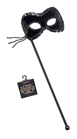 Adult Rome Eyemask Black Outfit Fancy Dress Halloween Masquerade Ball Metallic