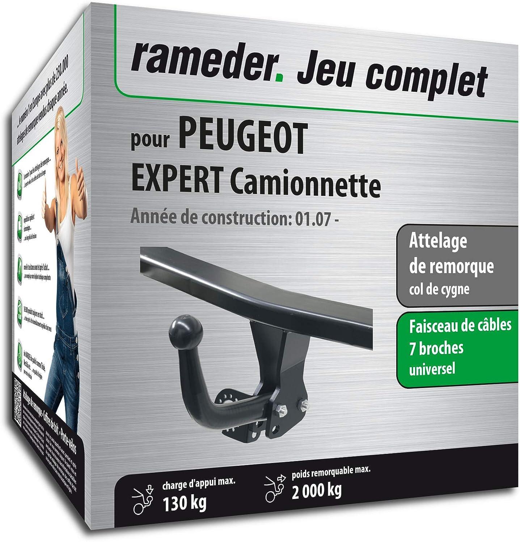 Rameder Attelage dé montable avec Outil pour Peugeot Expert Camionnette + Faisceau 7 Broches (128937-05643-1-FR)