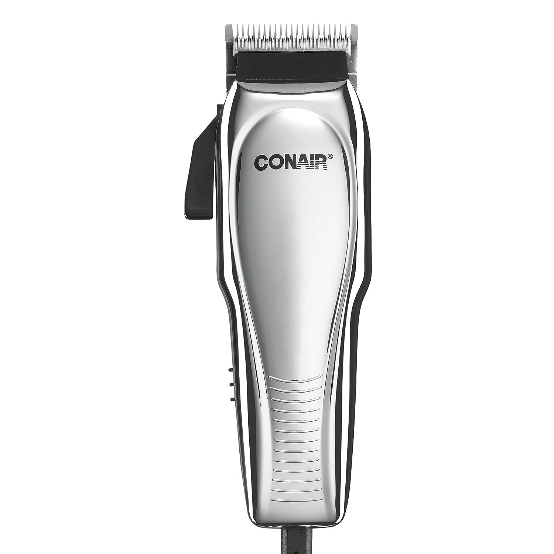 Conair Custom Cut 21-piece Haircut Kit; Home Hair Cutting Kit; Chrome