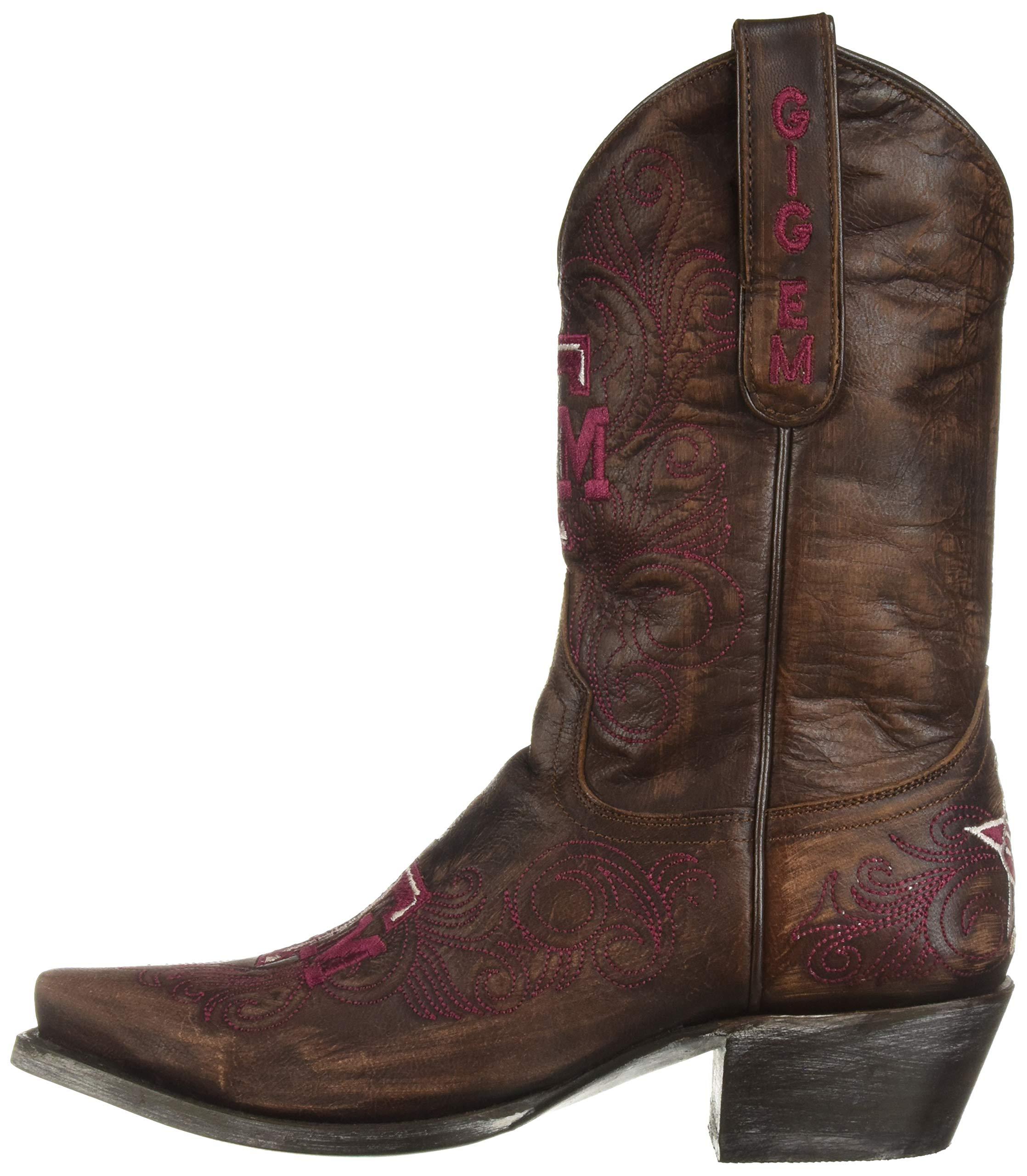 NCAA-Texas-A-amp-M-Aggies-Women-039-s-10-Inch-Gameday-Boot-Choose-SZ-color miniature 6