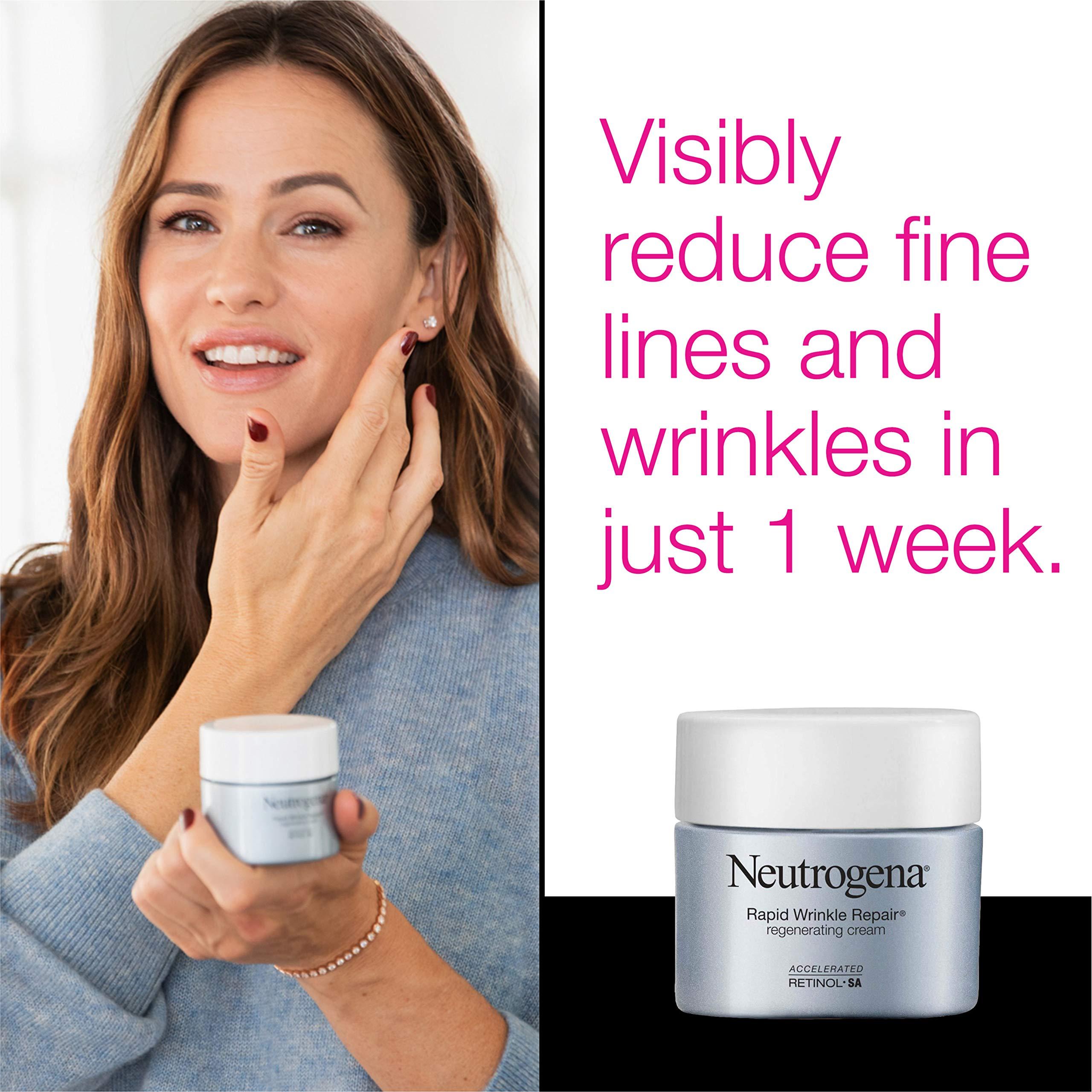 Neutrogena Rapid Wrinkle Repair Retinol Regenerating Anti-Aging Face Cream & Hyaluronic Acid; Anti-Wrinkle Retinol Moisturizer & Neck Cream, with Hyaluronic Acid & Retinol