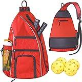 LLYWCM Pickleball Bag   Sling Bags - Reversible Crossbody Sling Backpack for Pickleball Paddle, Tennis, Pickleball Racket and