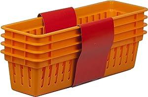 Home Basics PB40233-ORG Basket, Orange, 4-Pack