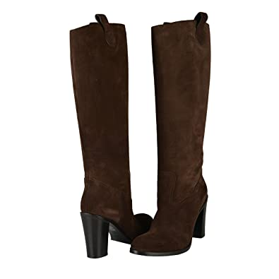 2d8ac051a61 Amazon.com: Gucci Women's Brown Suede Leather High Heel Boots Shoes ...