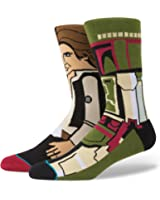 Stance Men's Star Wars Bounty Crew Socks Green Large