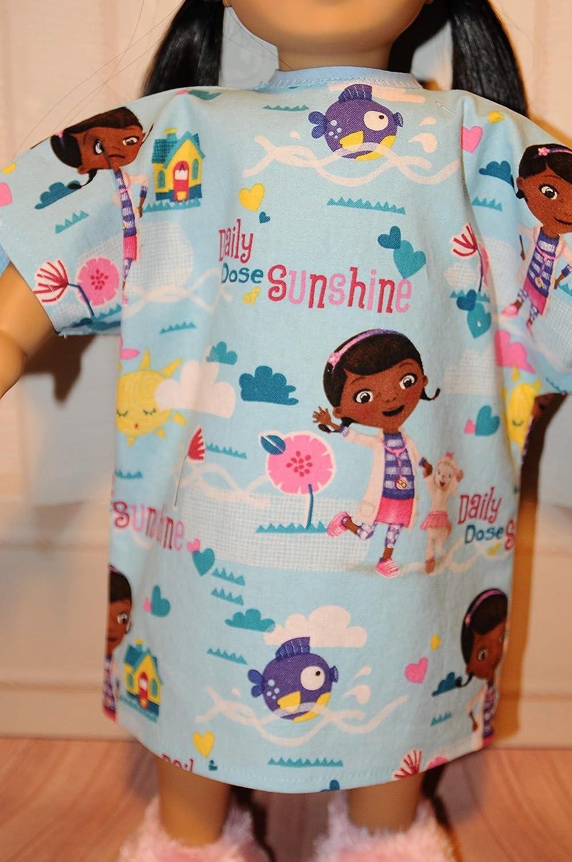 Blue Doc McStuffins Hospital Gown for 18 Dolls