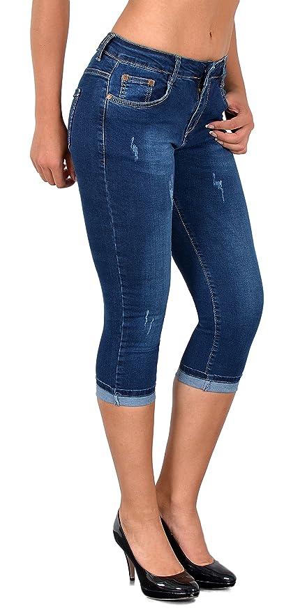 Femmes Jeans Tex Femme Pantalon Grandes Tailles Jean Esra By Dechiré Capri J400 À Pour Pantacourt ZXPTOuki