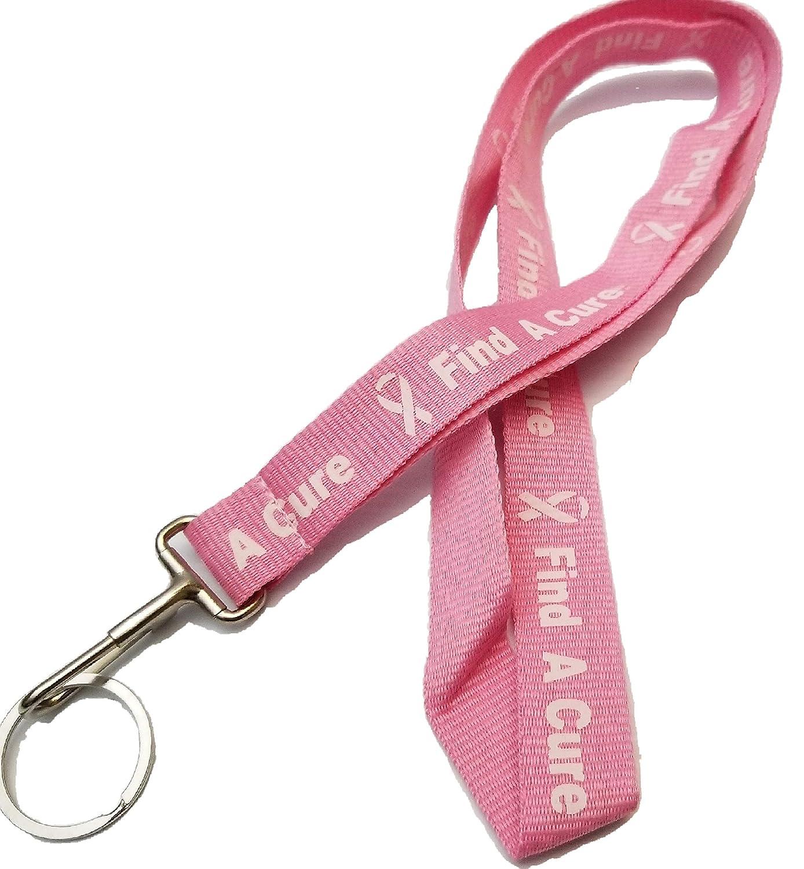 Amazon.com: Llavero con cinta rosa para el cuello y la ...