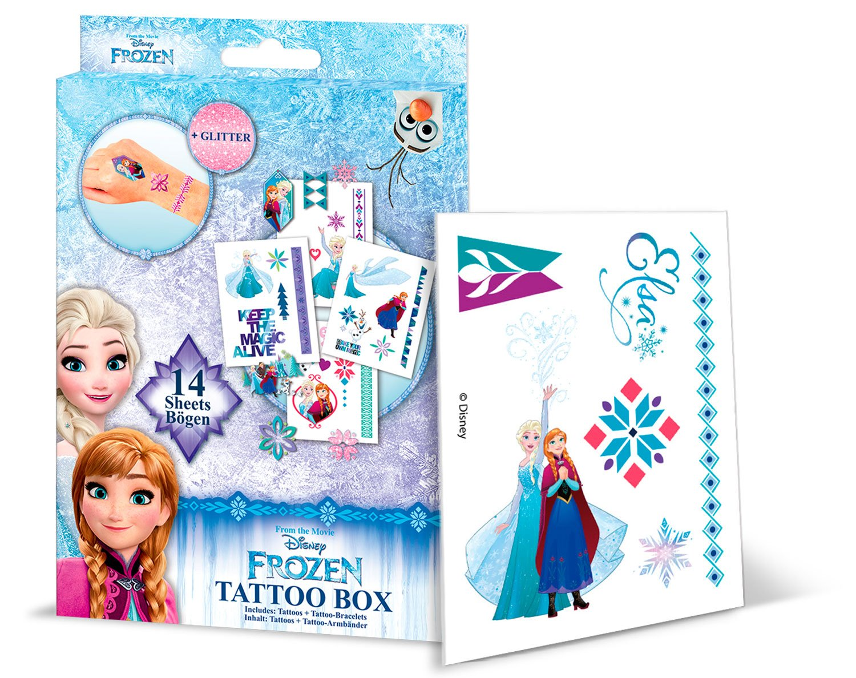 CRAZE 55381 – Tattoo Box Disney Frozen, 14 Hojas, Colores Surtidos ...
