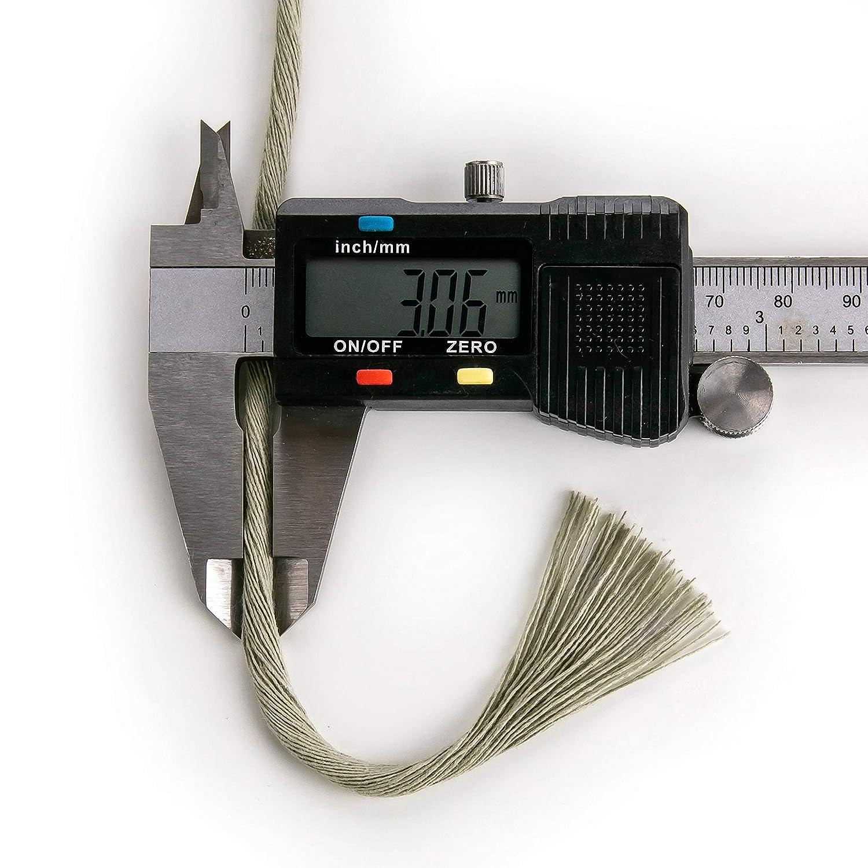 Macrame Cord 3mm Single Twist Cotton Rope 140m macrame rope Dark Gray