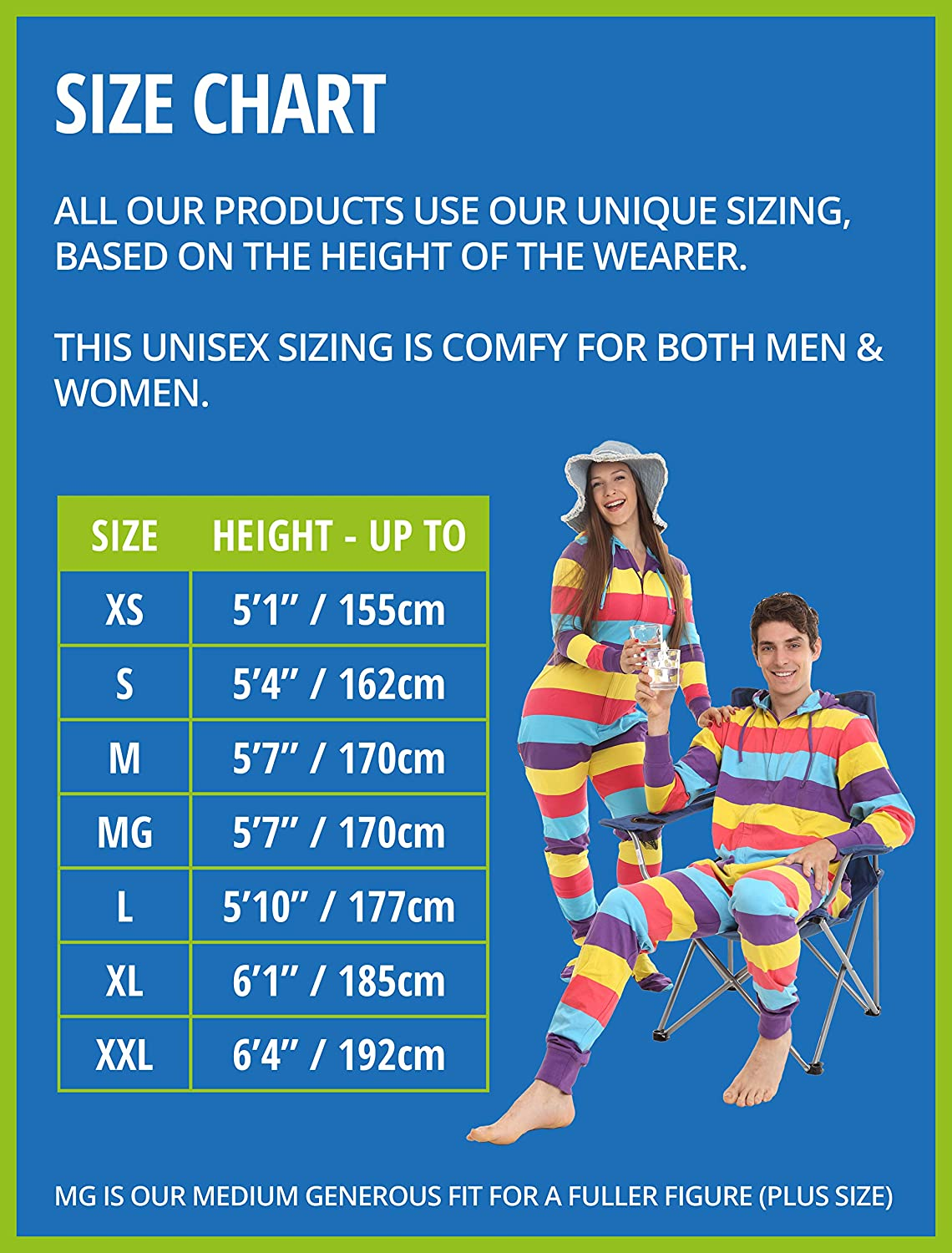 Size by Height XS to XXL Jumpsuit or Sleepsuit Funzee Footed Onesie Butt Flap Zooland Penguins on Blue One Piece All in one Footed Pyjamas Romper for Adults