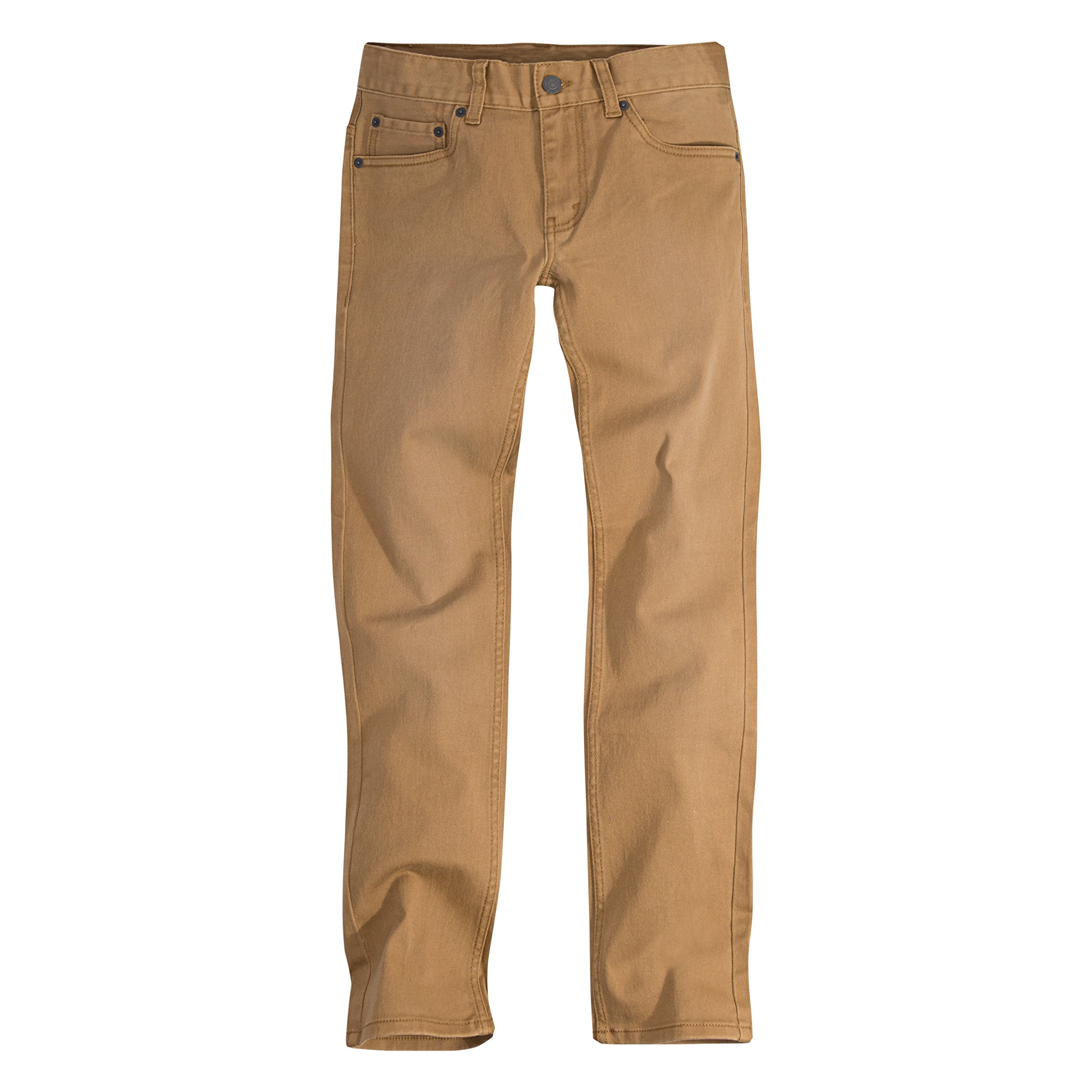 Levi's Boys' Big 511 Slim Fit Color Jeans, Dijon, 16