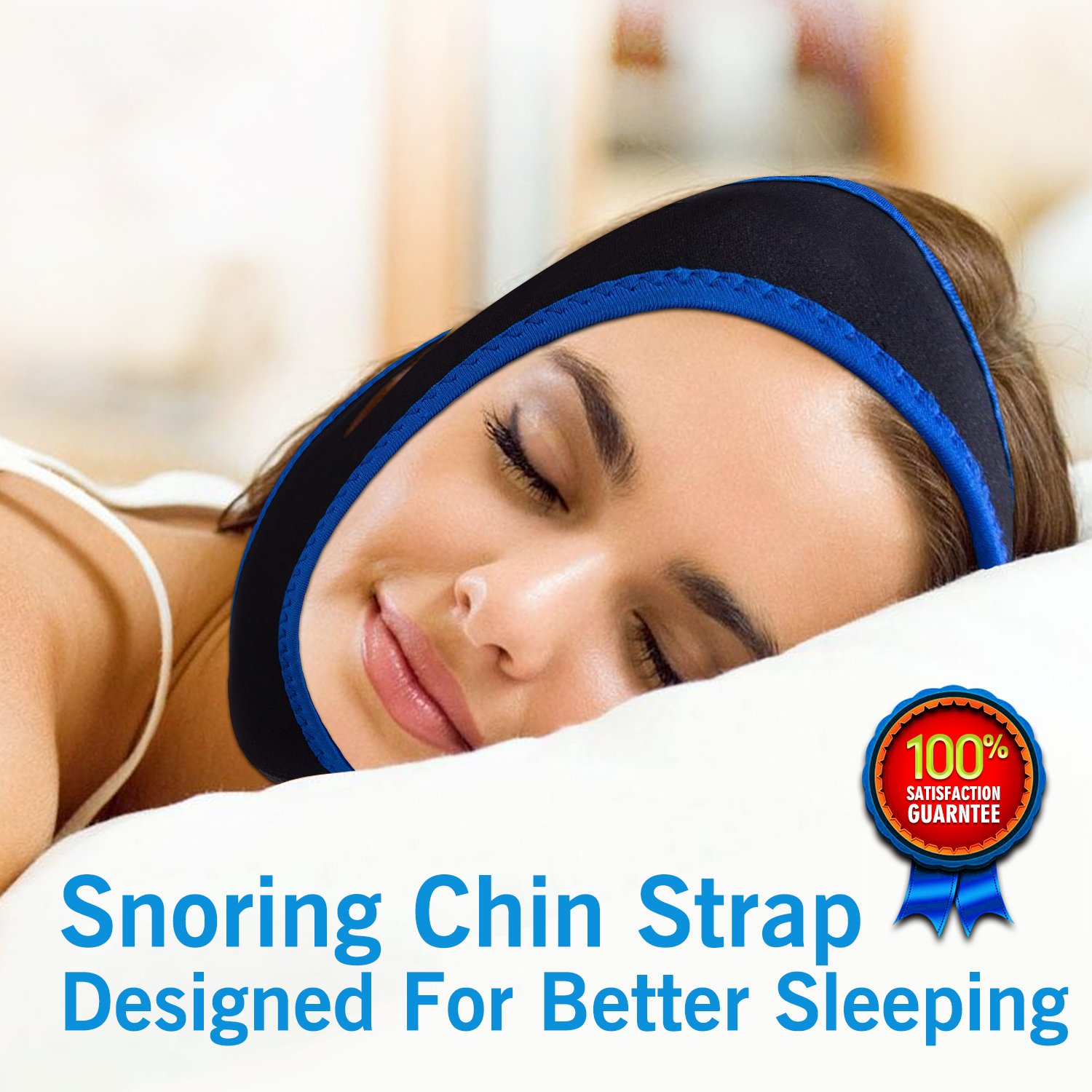 Anti Snoring Solution Chin Strap - Adjustable Snore Stopper,Anti Snoring Devices to Stop Snoring - Natural & Comfortable Sleep Aid for Women & Men - Designed as Snoring Remedies (Black) by AIHHIA