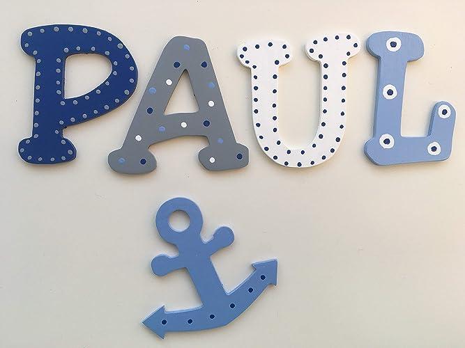 Tolle Holzbuchstaben für Kinderzimmer-Tür, Anker: Amazon.de: Handmade