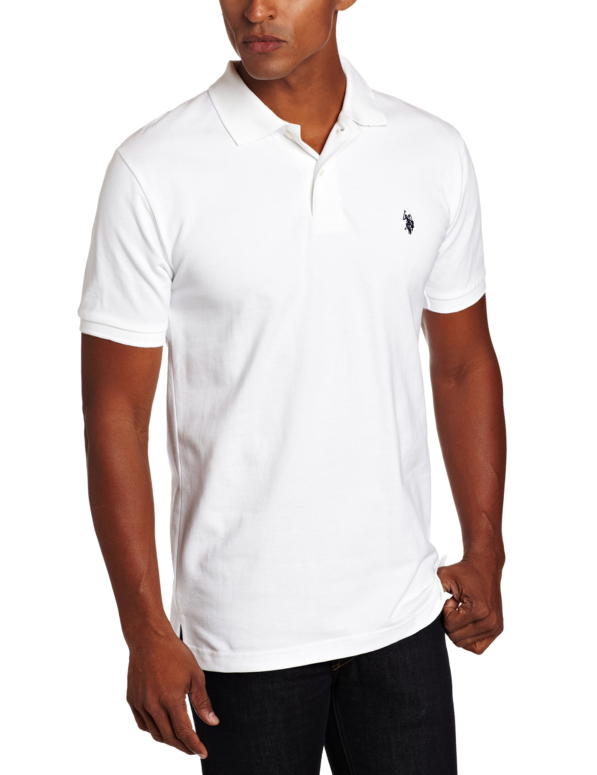 U.S. Polo Assn. Men's Classic Polo Shirt, White, L