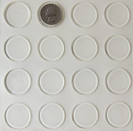Glass Table Top Bumpers 96 Pack Thin Clear Bumper Pads 1 23