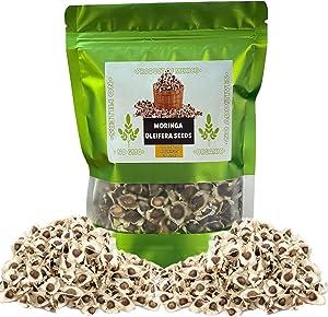 NaturaMex Moringa OLEIFERA Seeds 2.15Oz (60gr) 300+ Semillas de Moringa Fresh & Natural 100% No GMO, Product of Mexico