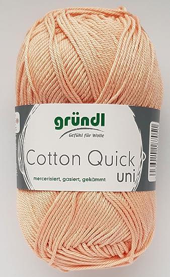 Gründl Wolle 50 Gramm Cotton Quick 100 % Baumwolle (mercerisiert, gasiert,  gekämmt ( c250007b35
