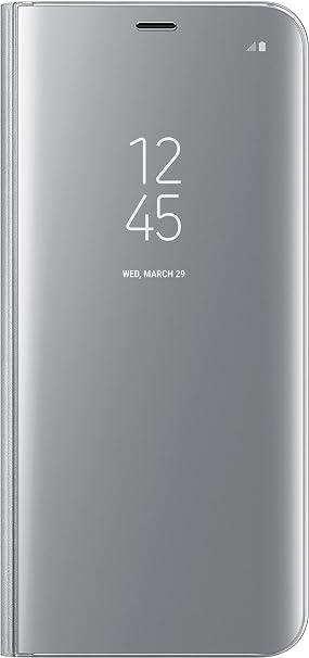 Samsung Clear View Standing, Funda para smartphone Samsung Galaxy S8 Plus, Plateado: Amazon.es: Electrónica