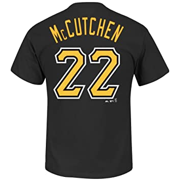 Weitere Ballsportarten Mlb Baseball T-shirt Pittsburgh Pirates Andrew Mccutchen 22 Black Fanartikel