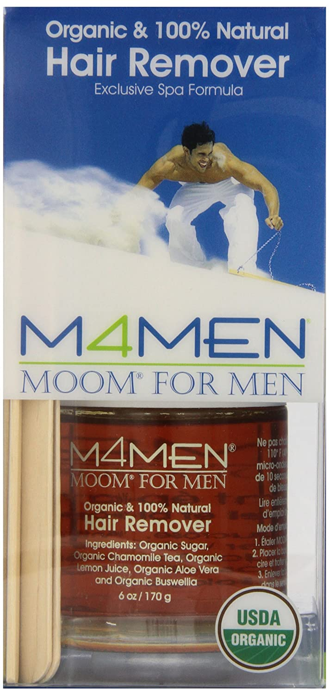 MOOM Moom for Men Organic Hair Removal Kit 6 Ounce Jar M4M